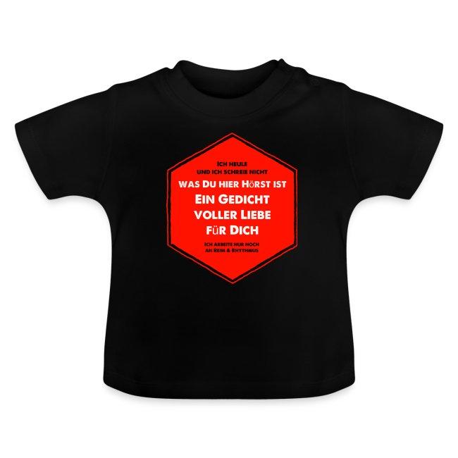 Gedicht Voller Liebe Baby T Shirt