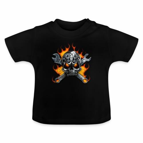 skull with crosstools - Vauvan t-paita