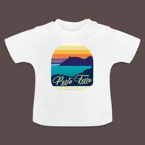 Porto Ferro - Vintage travel sunset - Maglietta per neonato