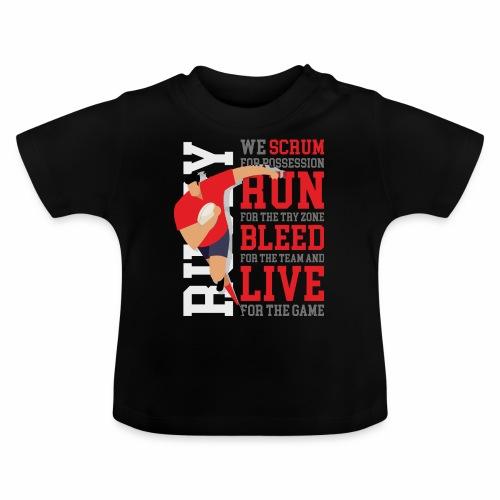 MarPlo Scrum Run Live Red - Maglietta per neonato