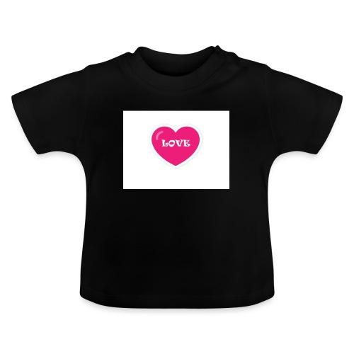 Spread shirt hjärta love - Baby-T-shirt