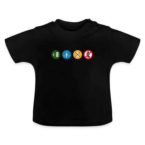 4kriteria ubi rechthoek trans - Baby T-shirt