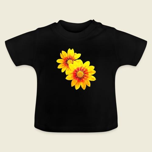 Leuchtende gelbe Blumen - Baby T-Shirt