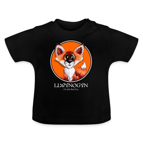 llwynogyn - a little red fox (white) - Vauvan t-paita