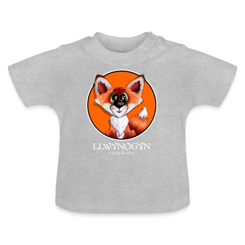 llwynogyn - a little red fox (white) - Baby T-shirt