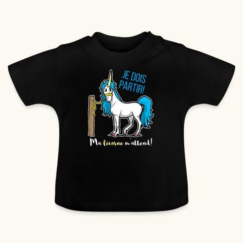 Lustiges Einhorn mit Spruch Französisch Geschenk - T-shirt Bébé