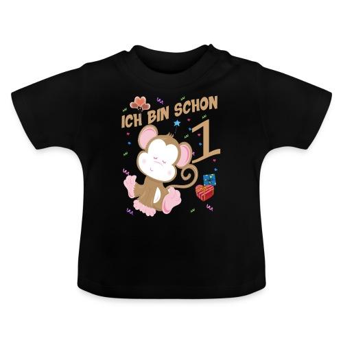Kinder Affen Geburtstagsshirt 1 Jahr - Baby T-Shirt