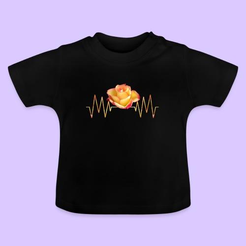 Rose, Herzschlag, Rosen, Blume, Herz, Frequenz - Baby T-Shirt