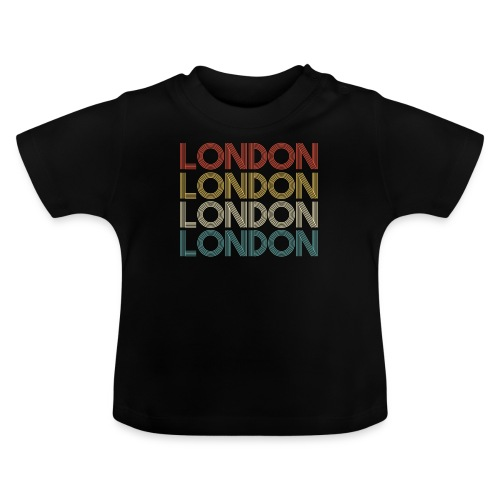 Retro London England Souvenir - Vintage London - Baby T-Shirt