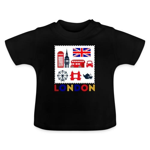 Vintage London Souvenir - Retro Briefmarke London - Baby T-Shirt