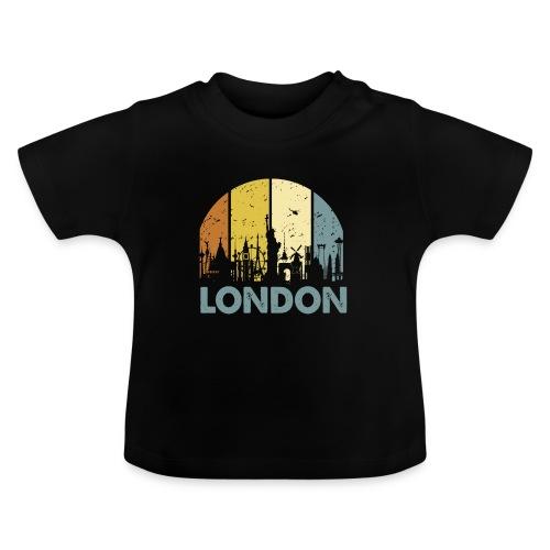 Vintage London Souvenir - Retro Skyline London - Baby T-Shirt