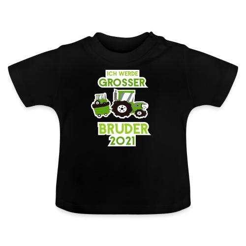 Großer Bruder 2021 Traktor und Baby - Baby T-Shirt