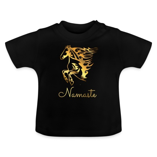 Namaste Horse On Fire - Baby T-Shirt