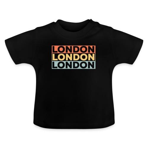 Vintage London Souvenir - Retro Streifen London - Baby T-Shirt
