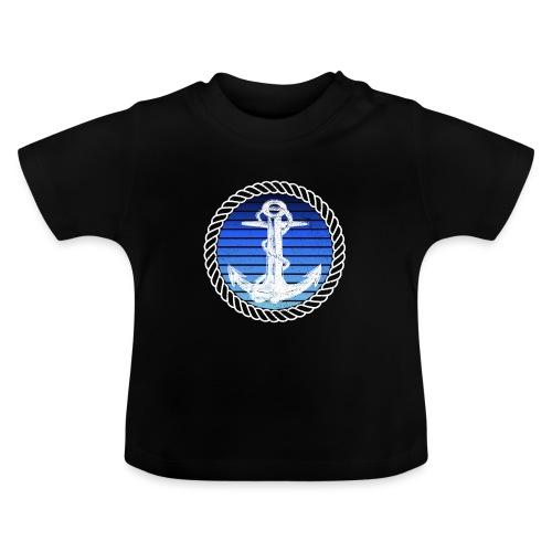 Anker maritimer Retrokreis Geschenkidee - Baby T-Shirt