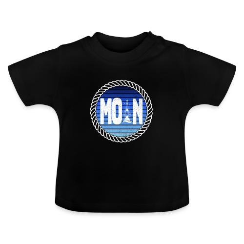 Moin Leuchtturm maritimer Retrokreis Geschenkidee - Baby T-Shirt