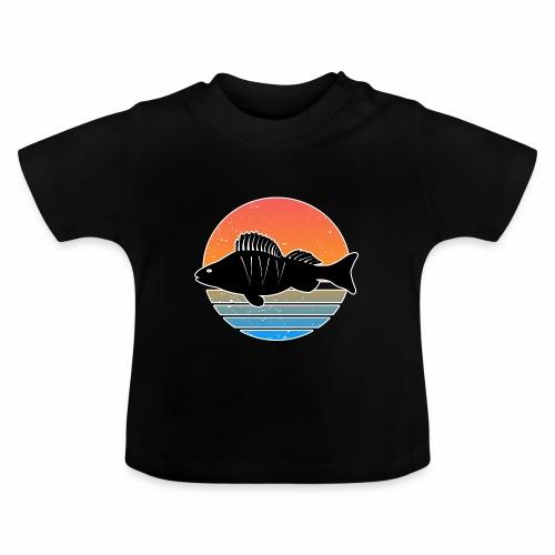 Retro Barsch Angeln Fisch Wurm Raubfisch Shirt - Baby T-Shirt