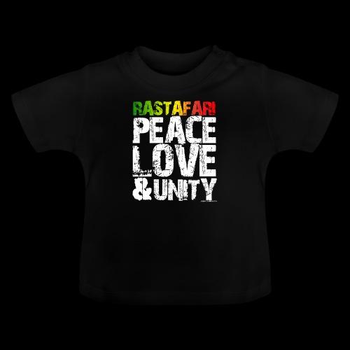RASTAFARI - PEACE LOVE & UNITY - Baby T-Shirt
