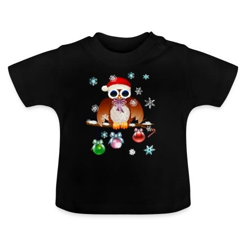 Merry Christmas Owl - Baby T-Shirt