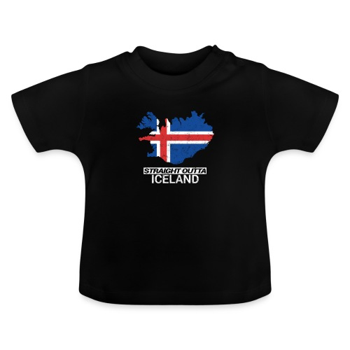 Straight Outta Iceland country map - Baby T-Shirt