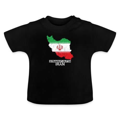Straight Outta Iran country map & flag - Baby T-Shirt