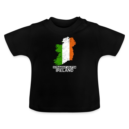 Straight Outta Ireland (Eire) country map flag - Baby T-Shirt