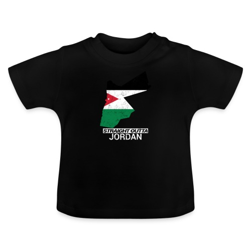 Straight Outta Jordan country map - Baby T-Shirt