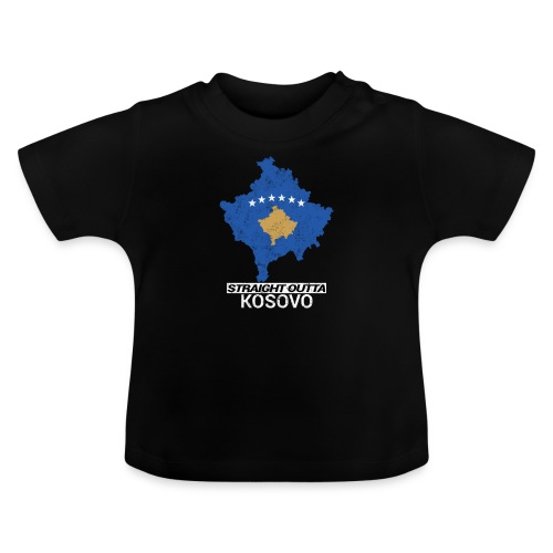 Straight Outta Kosovo country map - Baby T-Shirt