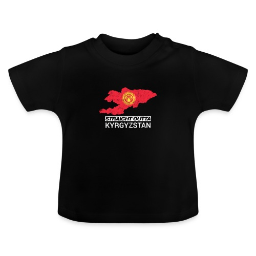 Straight Outta Kyrgyzstan country map - Baby T-Shirt