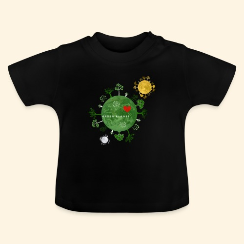 Trees on Green Planet with Sun Moon - Baby T-shirt