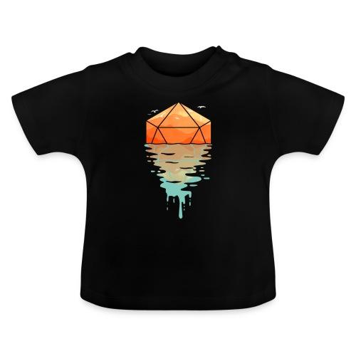 Rippling d20 - D & D Dungeons ja lohikäärmeet dnd - Vauvan t-paita