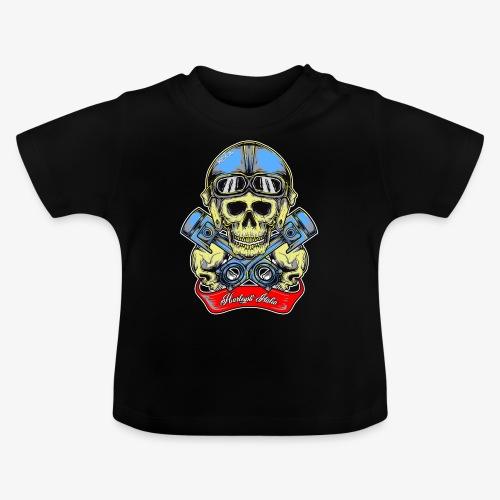 Teschio con casco vintage e pistoni - By Mescal - Maglietta per neonato