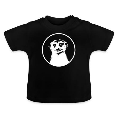 Stokstaartje groot rond diapositief - Baby T-shirt