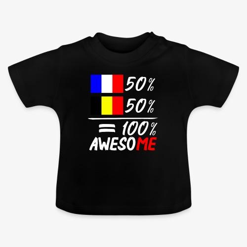 50% Frankreich 50% Belgien - Baby T-Shirt