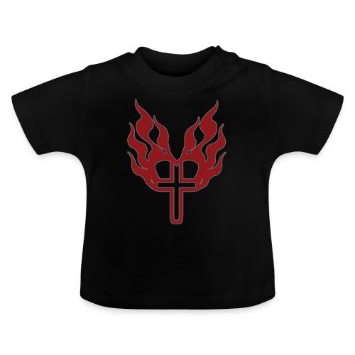 Cross and flaming hearts 02 - Baby T-Shirt