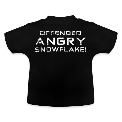 White Negant logo + OFFENDED ANGRY SNOWFLAKE! - Baby T-shirt
