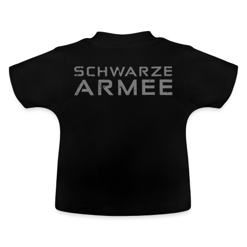 Grey Negant logo + SCHWARZE ARMEE! - Baby T-shirt