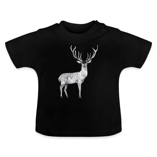 Hirsch Wald Tier Weihnachten Jagd Wild Geschenk - Baby T-Shirt