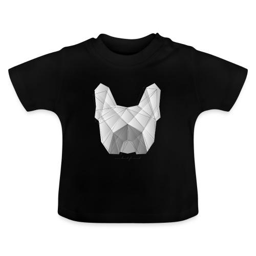 Geometric Frenchie white - Französische Bulldogge - Baby T-Shirt