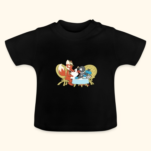 Fuchs und Elster beim Kaffeeklatsch - Baby T-Shirt