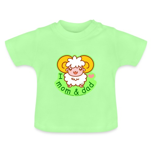 I Love Mom and Dad - Baby T-Shirt