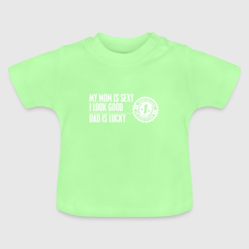 momloves WHITE png - Baby T-shirt