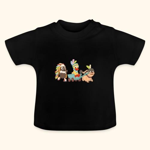 Pittiplatsch Indianerfreunde mit Schnatti & Moppi - Baby T-Shirt