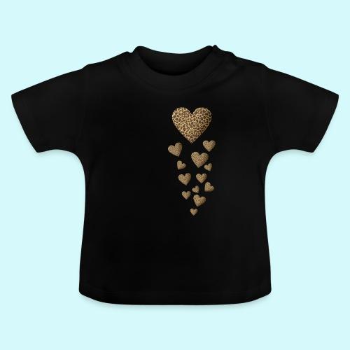 Leopardenmuster Herzen - Raubkatze - Baby T-Shirt