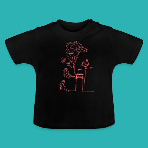 Carta_gatta_pink-png - Maglietta per neonato