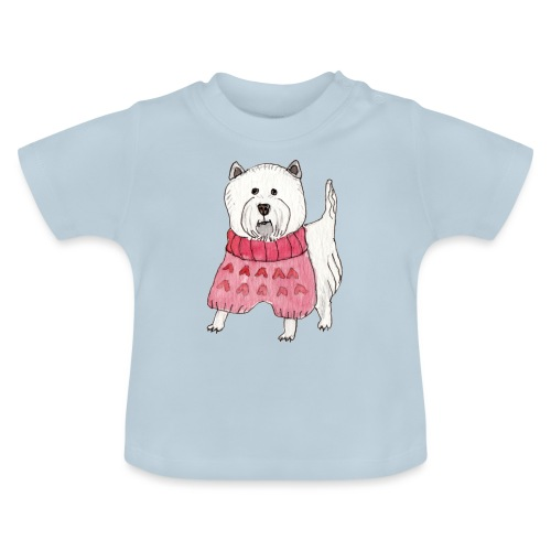 westie with sweater - Baby T-shirt