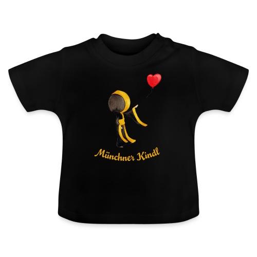 Münchner Kindl mit Herz-Luftballon - Baby T-Shirt