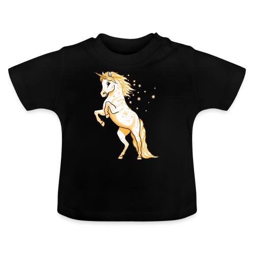 Pünktchen Einhorn Gold - Baby T-Shirt