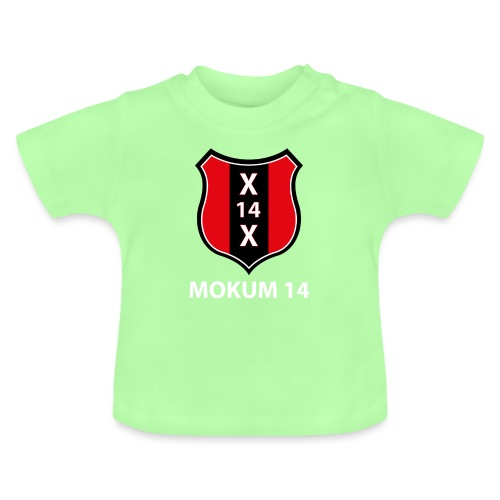 Mokum 14 Emblem (white text) - Baby T-shirt