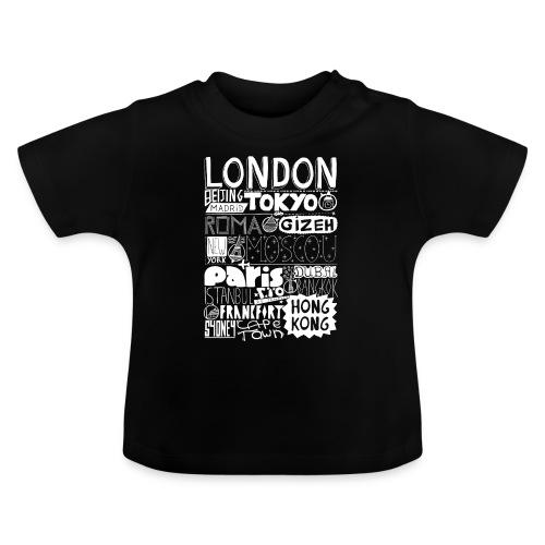 Villes du monde - blanc - T-shirt Bébé